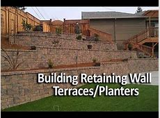 Building Terraced Retaining Walls or InWall Planters