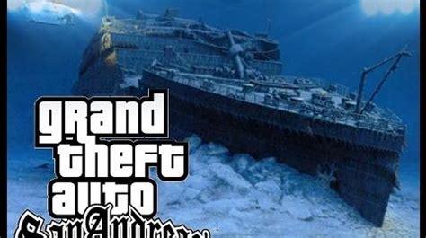 Titanic Boat Location by Video Gta Sa Titanic Underwater Gta Myths Wiki