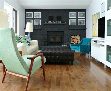bold black fireplace makeover designsponge