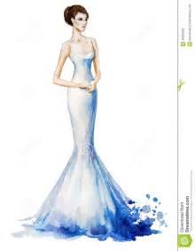 prix d une robe de mariã e illustration de mode d 39 aquarelle fille dans une longue robe robe de mariage