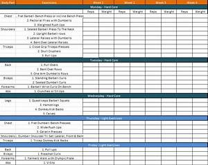 daily workout schedule template plannings and schedules With workout training schedule template