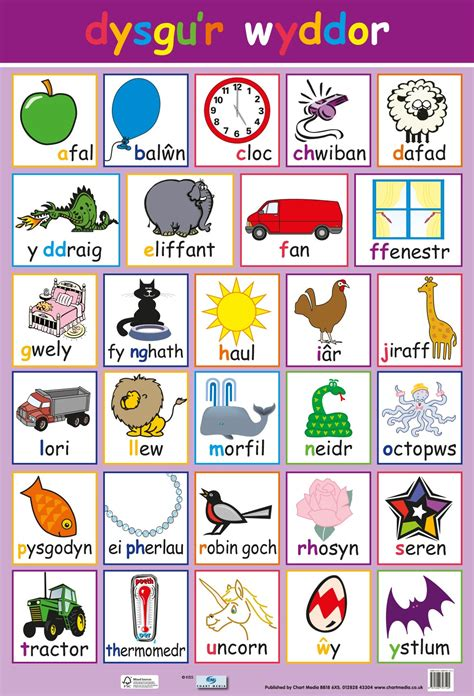 posters uk welsh words alphabet wholesale wall posters