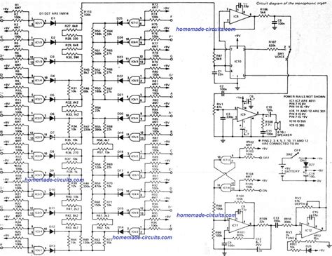 Electronic Touch Organ Circuit Homemade Projects