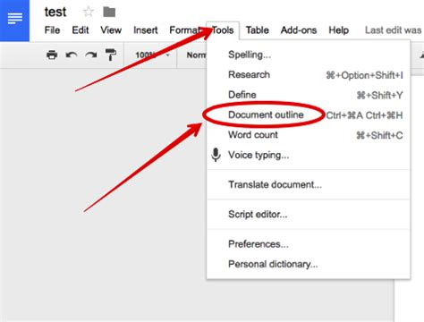 google docs outline document outline is an excellent new feature in docs educational technology and mobile