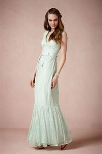 pastel aqua lace wedding dress by bhldn onewedcom With pastel wedding dress