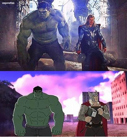 Hulk Thor Avengers Vs Assemble Head Punching