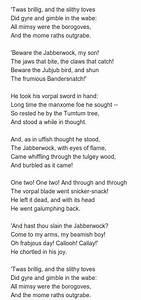 Más de 25 ideas increíbles sobre Jabberwocky poem en ...