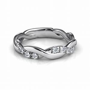 015 ct twist diamond wedding band With wedding ring twist