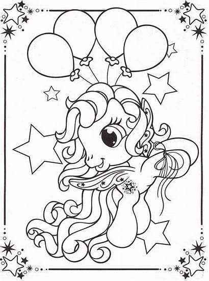 Coloring Pony Pages Printable Colouring Balloon Disney