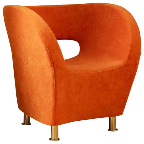 salazar modern design accent chair orange contemporary