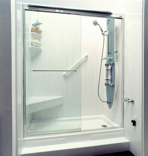 clean acrylic shower wall surround
