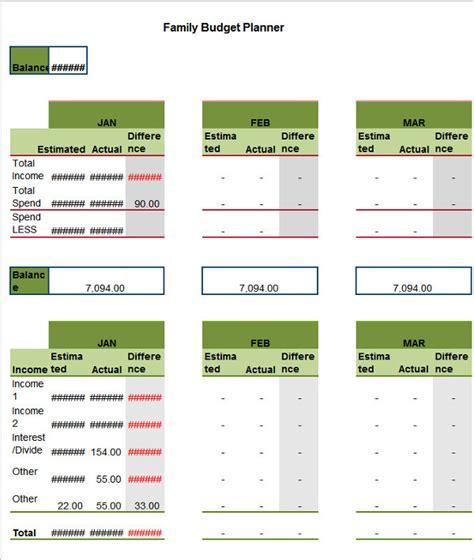 Family Budget Template 25 Family Budget Templates Free Excel Pdf Word Exles