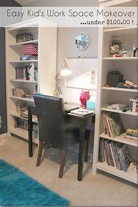 Quick And Easy Kids Work Space Makeover  U2013 Organize And