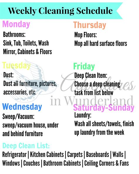 Should I List Stay At Home On My Resume by Using A Weekly Cleaning Schedule To Stay On Track