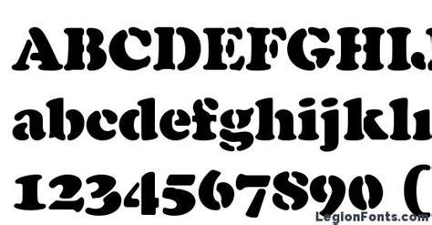 cooper black stencil regular font   legionfonts