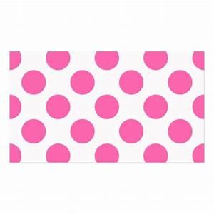 hot pink polka dots business card template zazzle With polka dot business card templates free
