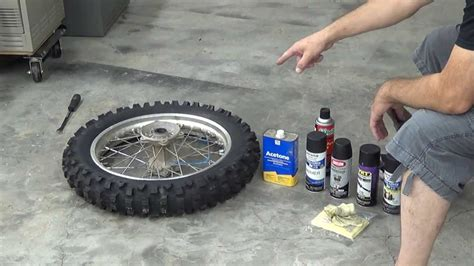 How To Paint Dirt Bike Wheels