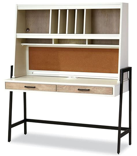 gray desk with hutch myroom parchment and gray desk with hutch from smart stuff