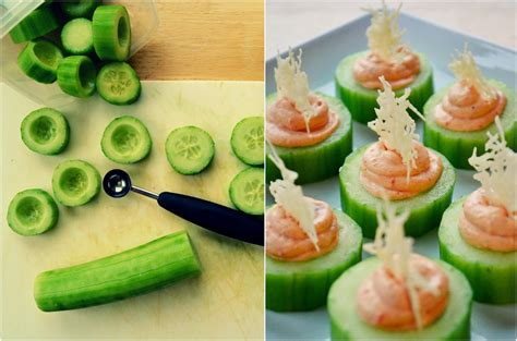 canapes for family feedbag cucumber canapés with 2 cheese fillings