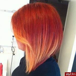 Ombré Hair Cuivré : love this short ombre hair style red to blonde cheveux ~ Melissatoandfro.com Idées de Décoration