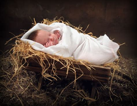 manger baby boy christmas portrait bountiful