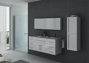 Meuble De Salle De Bain Double Vasque : meuble de salle de bain double vasque blanc meuble de ~ Melissatoandfro.com Idées de Décoration