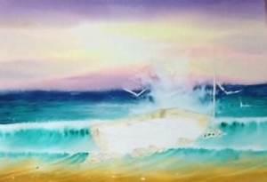 Comment Dessiner La Mer : dessin et peinture vid o 1685 comment peindre la mer autour du rocher l 39 aquarelle 2 ~ Dallasstarsshop.com Idées de Décoration
