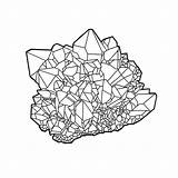 Crystal Cluster Drawing Line Dragon Moon Purple Drawings Pagan Think Coloring Healing Lineart Google sketch template