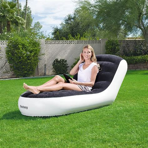 chaise 65 cm bestway 1 65m x 84cm x 79cm chaise sport lounger outdoor