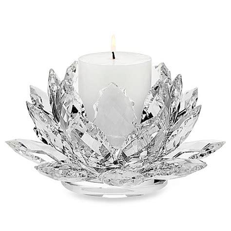 godinger dublin crystal lotus pillar candle holder