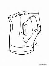 Kettle Coloring Pages Tea Printable Sheet Template Sketch Teapot Pot Fancy Templates sketch template
