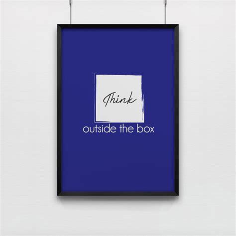 affiche bureau affiche pour bureau think outside the box poster