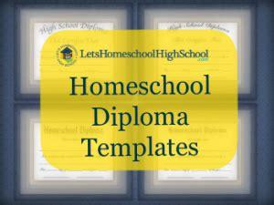 homeschool high school diploma templates