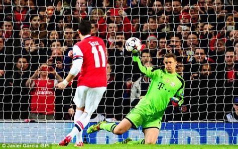 Arsenal 0-2 Bayern Munich: MATCH REPORT | Daily Mail Online