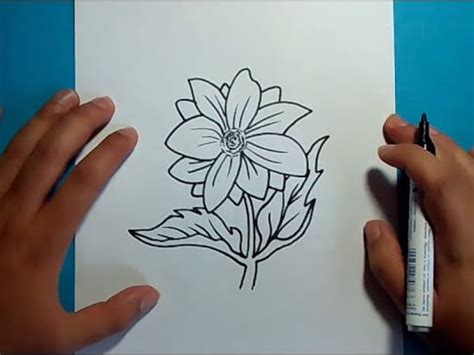 como dibujar una flor paso a paso 13 how to draw a flower 13 youtube