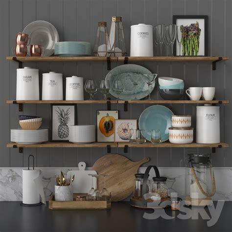 kitchen accessories set 3d models other kitchen accessories kitchen decor set 2146
