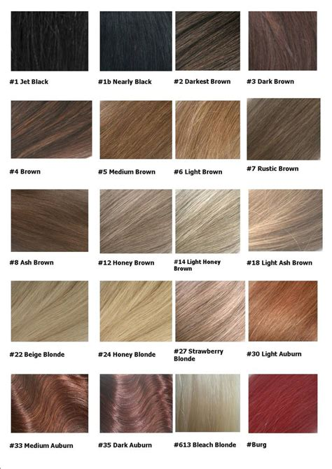Name And Color Of Hair by 18 Best Images About Shades On Colour Chart