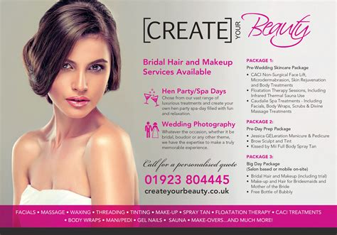 bridal packages create  beauty watford hertfordshire