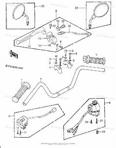 Kawasaki Motorcycle 1980 Oem Parts Diagram For Handlebar