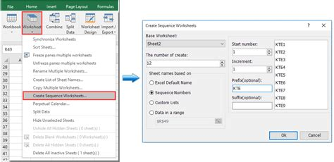 quickly create worksheets from a list of worksheet names in excel