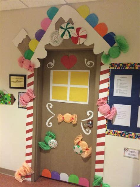 ginger bread house door decoration classroom ideas