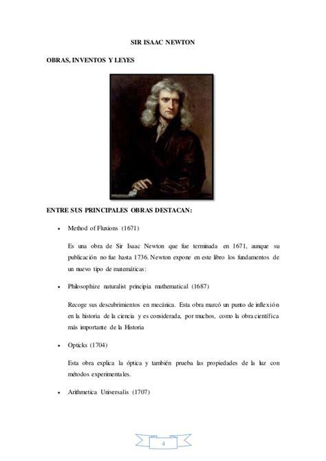 Isaac Newton Resumen De Su Vida by Biograf 237 A De Isaac Newton