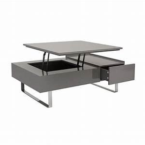 Acheter Table Basse Relevable Grise Table De Lit A Roulettes