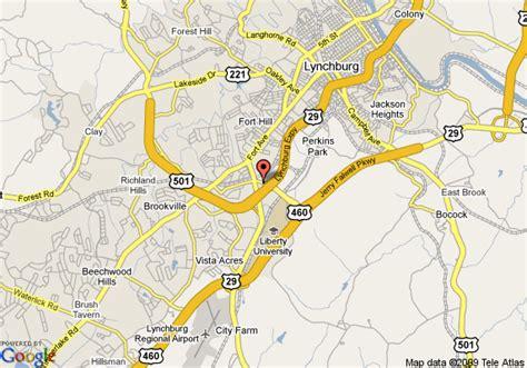 lynchburg virginia offender map is map of holiday inn express lynchburg lynchburg