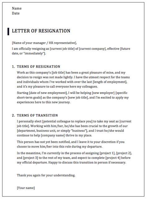 write  professional resignation letter samples