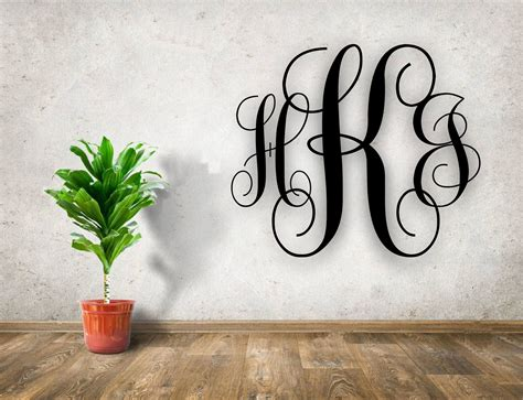personalized monogram letters wood cutout hints laser engraving