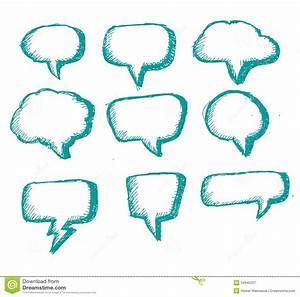 Blank Empty White Speech Bubbles Royalty Free Stock ...