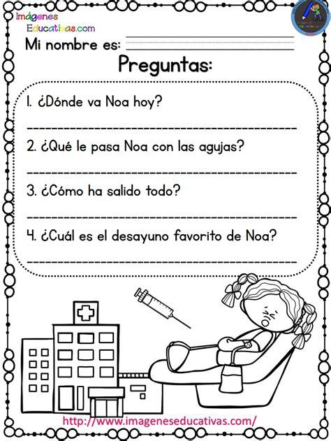 lecturas comprensivas para primaria noa y hugo 2 5 imagenes educativas