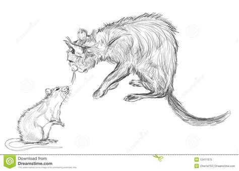 Cat And Rat Royalty Free Stock Photo - Image: 12411975