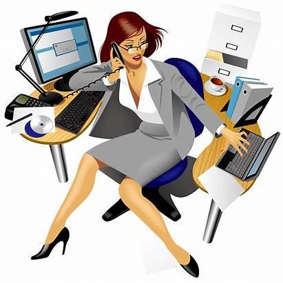 Clipart Receptionist Registration Patient Office Clip Secretary
